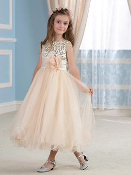 Beautiful Sequins Flower Girl Dress