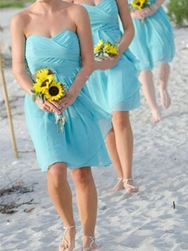 Beautiful Sweetheart A Line Bridesmaid Dress