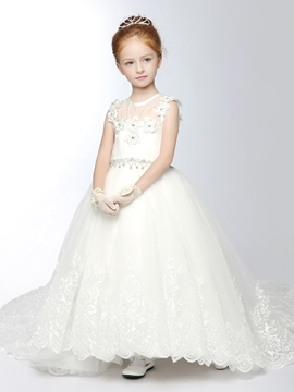 Beautiful Tulle Princess Flower Girl Dress