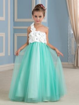 Charming One Shoulder A Line Flower Girl Dress