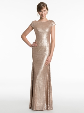 Charming Sheath Backless Bridesmaid Dress