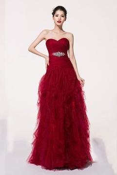 Charming Sweetheart Beading Floor Length Bridesmaid Dress