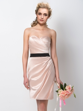 Chic Sweetheart Sheath-Column Bridesmaid Dress