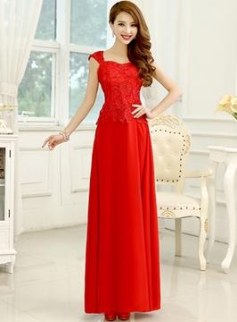 Delicate Lace Sweetheart Neckline A-Line Floor Length Bridesmaid Dress