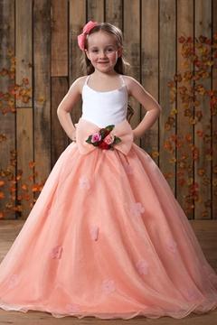 Fashion Ball Gown Floor Length Spaghetti Straps Flower Girl Dress