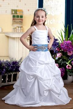 Gorgeous A-line Spaghetti Straps Flower Girl Dress