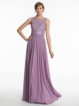 High Quality Lace A Line Bridesmaid Dress