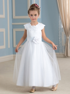 Jewel A Line Flower Girl Dress