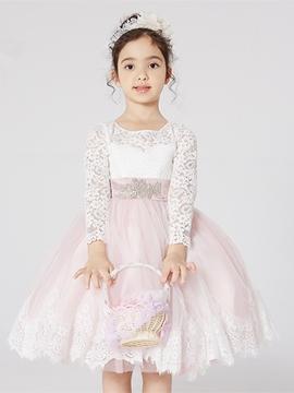 Knee Length Ball Gown Flower Girl Dress