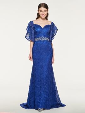 Mermaid Lace Beaded Bridesmaid Dress