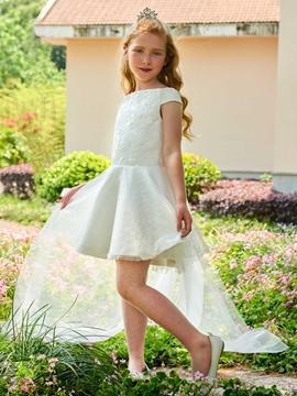 Off The Shoulder Lace Short Flower Girl Dress