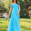 Off-the-Shoulder A-Line Bridesmaid Dress