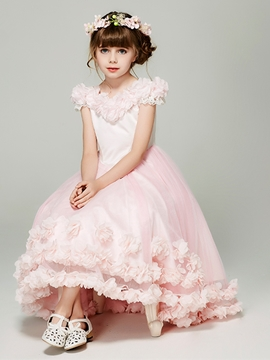 Off the Shoulder Tulle A Line Flower Girl Dress