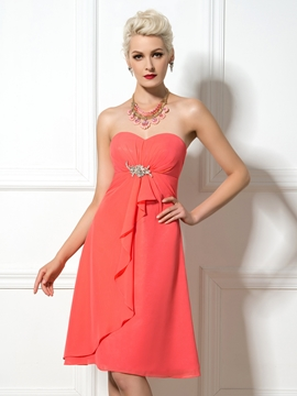 Pretty Sweetheart Knee Length A Line Bridesmaid Dress