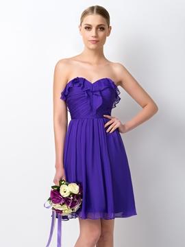 Pretty Sweetheart Short Bridesmaid Dress