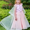 Scoop Flowers Ankle Length Flower Girl Dress