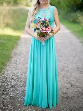 Sequins Lace Long Bridesmaid Dress