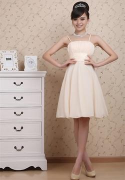 Simple A-Line Knee-length Prom-Bridesmaid Dress
