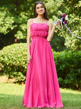 Spaghetti Straps A-Line Bridesmaid Dress