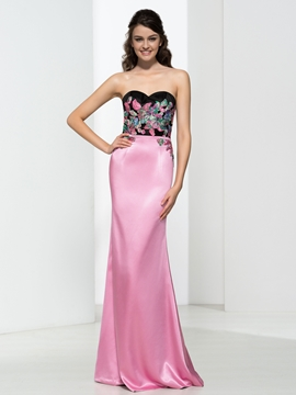 Sweetheart Appliques Hollow Prom Dress