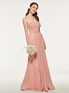 Sweetheart Long Sheath Bridesmaid Dress