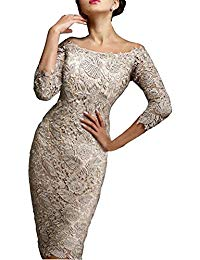 7 Minutes of Sleeve and Knee Lace Bride's Mother Dresses