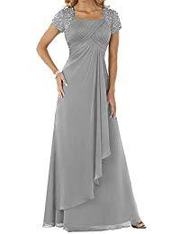 Chiffon Chiffon Sequare Neck Long Prom Dress Mother The Bride Dress