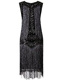 Flapper Dresses 1920s Gatsby Full Fringed Vintage Cocktail Dress