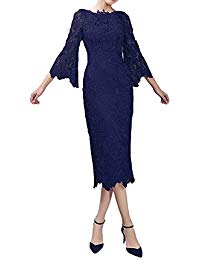 Long Sleeves Mother Of The Bride Dress Lace Bridesmaid Gowns