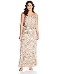 Plus-Size Long Beaded Gown