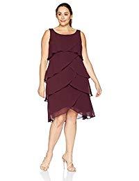 Plus-Size Sleeveless Embellished Shoulder Tier Dress