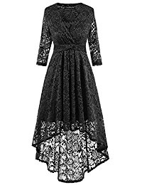Short 2017 Cap Sleeve Floral Lace Prom Formal Dresses Retro Vintage Swing Party Dress Cocktail Dresses