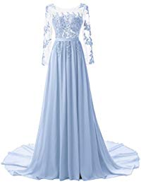 Applique Long Evening Mother Bride Dresses With Sleeves ZP2501