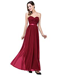 Babyonline Ruched Chiffon Long Evening Dresses Party A-Line Formal Gowns