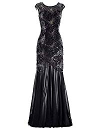Cap Sleeve Evening Dress Sequins Mother of The Bride Dresses Gown Black Dresses Party Evening Gowns