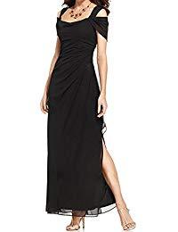 Elegant Straps Side Slit Sheath Chiffon Mother of The Bride Dress