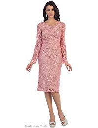 Long Sleeve Mother Of The Bride Short Dress