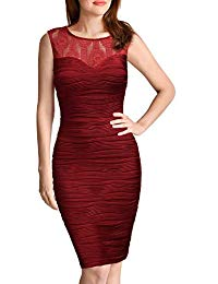Sleeveless Top Lace V Back Sexy Bodycon Cocktail Party Dress