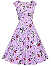 Vintage Print Cap Sleeve Formal Cocktail Dress