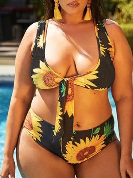 Floral Print Bikini Set Swimwear