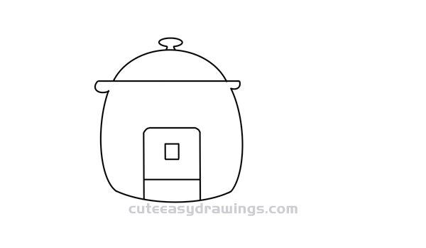 How to Draw a Rice Cooker Easy Step by Step for Kids