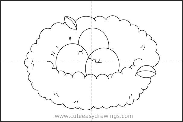 How to Draw a Bird's Nest Easy Step by Step for Kids