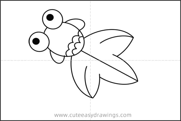 How to Draw a Cute Goldfish Easy Step by Step for Kids