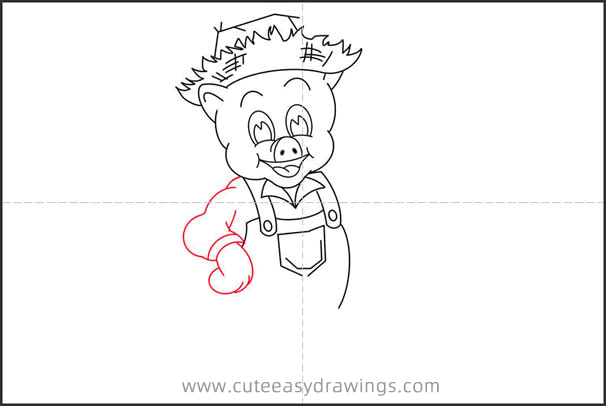 How to Draw a Piggy from Three Little Pigs Step by Step