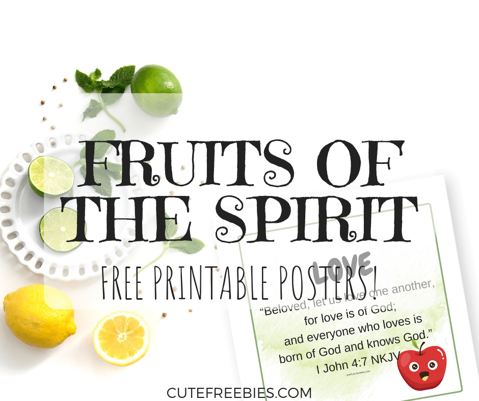 image regarding Printable Fruit of the Spirit identified as Albert and Mae, Writer at Lovable Freebies For Yourself - Web page 6 of 6