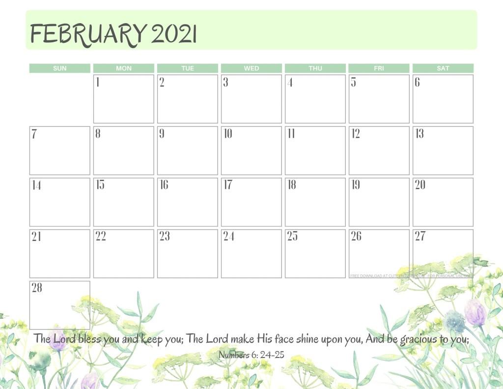 2021 Bible Verse Calendar Free Printable! - Cute Freebies ...