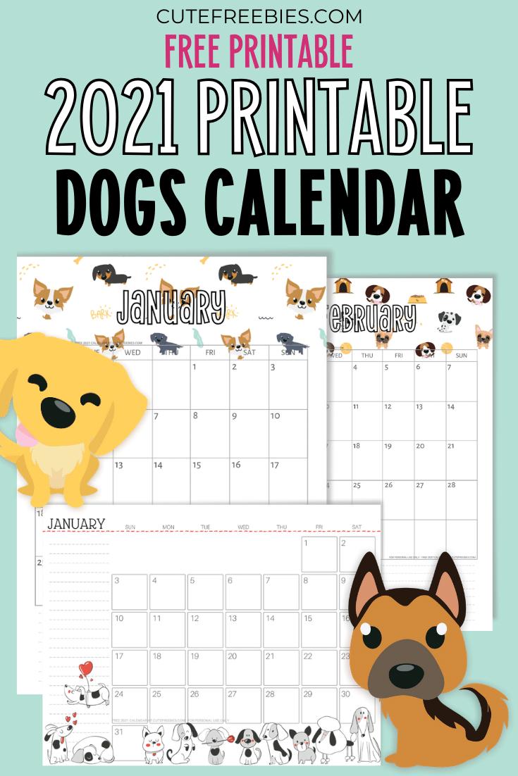 CUTE-DOGS-CALENDAR-2021 - Cute Freebies For You