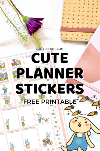 Cute Planner Stickers For You! Free printable stickers for your bullet journal or planner. Free download now! #cutefreebiesforyou #plannerstickers #printablestickers #bulletjournal #bujoideas #bujoinspiration