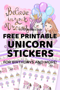 Free Unicorn Birthday Planner Stickers! Choose from various hair and skin colors and use as journal stickers. Free download now! #cutefreebies #plannerstickers #freeprintable #bulletjournal #bujoideas #unicorn #unicornbirthday