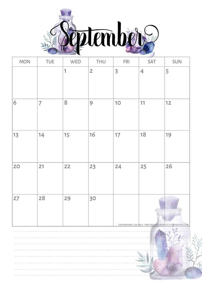 Free Printable 2020 2021 Calendar PDF - Crystal Gems ...